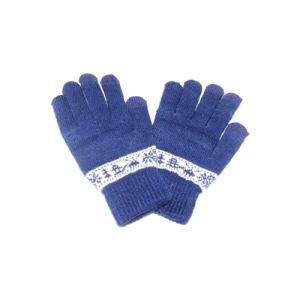 Wholesale Mens Womens Winter Warm Knit Wool Insulated Fleece Magic Gloves Mitten