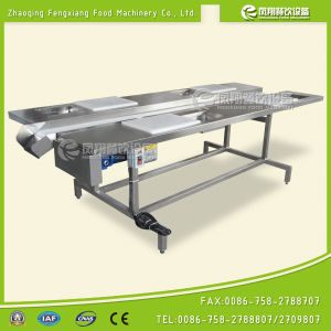 Commercial Four Station Selection Conveyor Vegetable Processing Workbench pictures & photos
