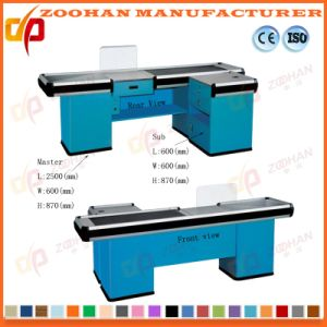 Supermarket Store Electric Checkout Counter Cashier Counter Desk Table (Zhc11) pictures & photos