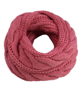 1cb7c53a2e3 Womens Unisex Cable Twisted Neck Warmer Thick Winter Knitted Scarf Loop  Snood (SK138)