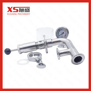 Sanitary Stainless Steel SS304 Air Pressure Relief Valve with Pressure Gauges pictures & photos