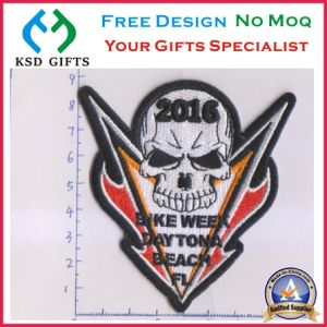 Customized 3D Skull Laser Cut Embroidery Patch pictures & photos