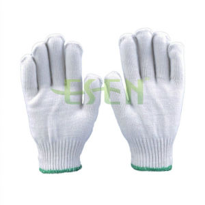 2017 Hot Sale Raw White 10gauge 55g Knitted Cotton Gloves Working Gloves Work Glove