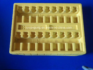 PS Flocking Tray for Medical Oral Liquid Yellow Flcoking Tray pictures & photos