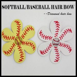 Personalized Sport Leather Softball Hair Bow pictures & photos