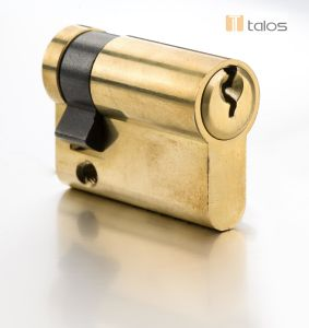 Economy Euro Secure Single Cylinder Lock Brass Nickel pictures & photos