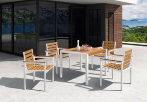 Alum Plastic Wood Garden Outdoor Dining Set