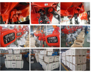 Durable 3 Ton Electric Chain Hoist with Trolley pictures & photos
