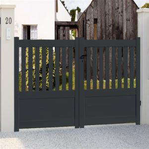China Sliding Fence Door Aluminum Frame Driveway Gate And Fence