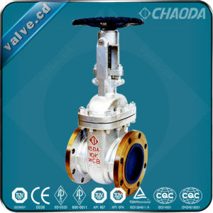 JIS Standard Flanged Cast Steel Gate Valve pictures & photos