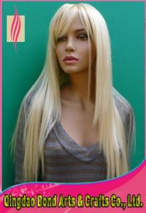 Blonde Full Lace Wig/Lace Wig with Bangs pictures & photos