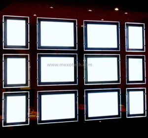 Cable Suspended LED Light Box for Real Estate Agent Window Displays pictures & photos