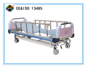 (A-52) Movable Double-Function Manual Hospital Bed with ABS Bed Head