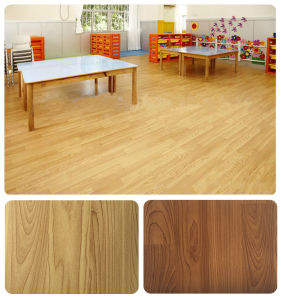Roll PVC Room Waterproof Floor Eco-Friendly Flooring Modern Decoration Wood Stripe