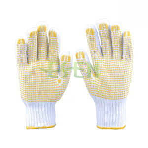The Most Hot Sale PVC Dots Hand Gloves Working Gloves