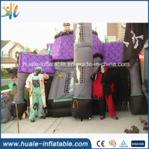 hot sale inflatable halloween house inflatable haunted house with led light