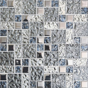 Silver Crystal Glass Mosaic Tile for Living Room and Bathroom (FY4823C)