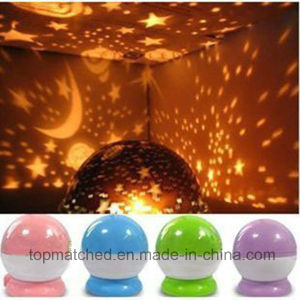 Home Decro for Kids USB Rotary Star Master Moon Sky Projector LED Night Light pictures & photos