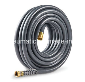 1/2′′x50FT Heavy-Duty PVC Braided Garden Hose with Brass Fitting