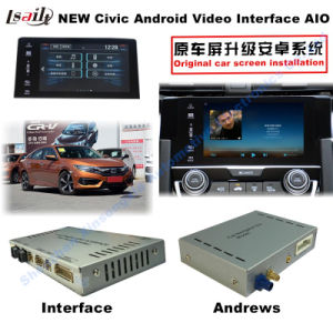 Android HD GPS Navigation Video Interface for 2016 Honda Civic Mirrorlink, Video Panoramic View, Voice Control, Android APP pictures & photos