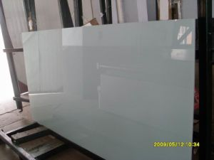 White Painted Glass