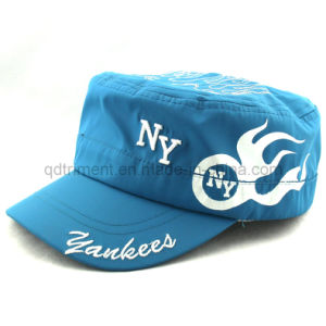 100% Polyester Microfiber Print Embroidery Sport Military Cap (TRNM088) pictures & photos