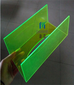 Yellow Fluorescent Polycarbonate Sheet with 100% Virgin Bayer/Lexan