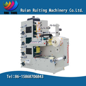 Rtry-320d 4 Color Sticker Label Paper Flexo Printing Machine pictures & photos
