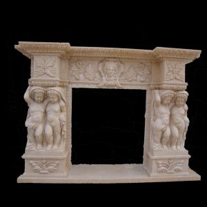 Angel Carving Fireplace