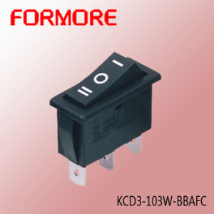 Kcd3 on-off-on Rocker Switch /Electrical Switch/Micro Switch /Hook Switch pictures & photos
