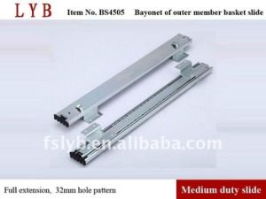 45mm Height Full Extension Kitchen Baske Slide with Bayonet of Outer Member pictures & photos