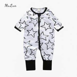 Organic Cotton Baby Clothes Sets Baby Onesie Summer Short Sleeve Jumpsuit Shorts Rompers