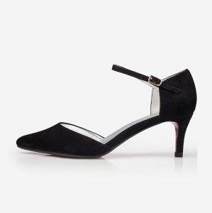 China Matte Black Women Elegant High