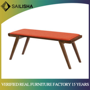 Modern Wooden Legs Fabric Seating Bed Bench for Bedroom furniture