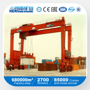 Rtg Type Rubber Tyre Quayside Container Gantry Crane pictures & photos
