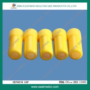 Medical Yellow Luer Lock Heparin Cap Single Use pictures & photos