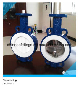 Manual Operated Full PTFE Casting Wafer and Lug Butterfly Valves pictures & photos