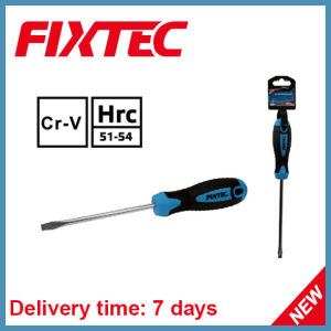 Fixtec CRV Hand Tools 150mm Magnetized Tip Slotted Screwdriver pictures & photos