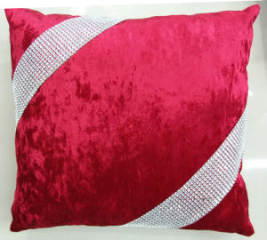 Hand-Made Decorative Cushion Hand-Sewing Diamond-Tape Pillow (XPL-21) pictures & photos