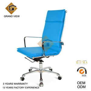 Blue Leather High Quality Ergonomic Office Chair (GV-OC-H305) pictures & photos