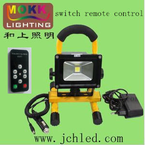 Switch Remote Control 10W Rechargeable LED Flood Light