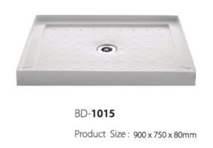 Center Drain Three Fanlges Mini Shower Base (BD-1015) pictures & photos