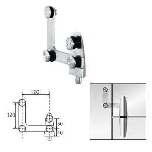 Stainless Steel Glass Swing Door Hinge Axis Pivot Axis Fitting (KL-DP617)