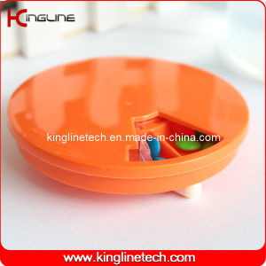 Plastic Round 7 Days Pill Box (KL-9065) pictures & photos