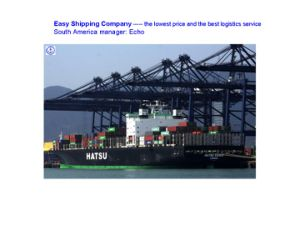 Consolidate Shipping Freight From China to Central America Shipping