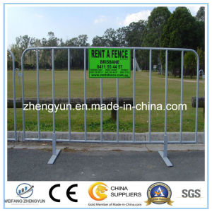 Outdoor Galvanized Road Traffic Crowd Contro Barrier