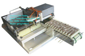 Small Skewer Machine/Semi-Automatic Skewer Meat Machine pictures & photos