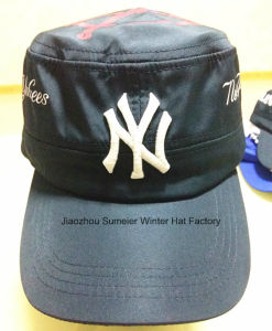 Cheap High Quality Flat Peak Cap Embroidered Sport Baseball Hat pictures & photos