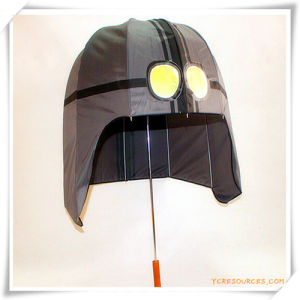 Creative Sun-Rain Straight Umbrella in Helmet Shape for Promotion pictures & photos