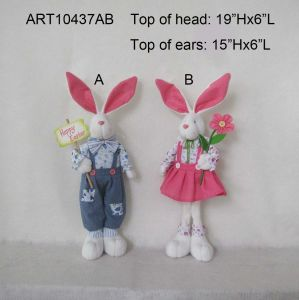 Standing Boy and Girl Bunny Easter Decoration Gift-2 Asst pictures & photos